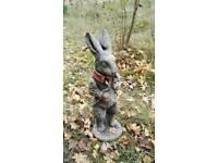 Peter rabbit stone ornament garden