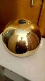 Gold glass lightshade