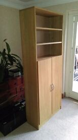 Bookcase by John Lewis high quality with doors