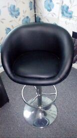 Two black stools