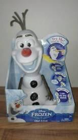 NEW Frozen olaf talking interactive snowman