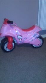 Hello kitty sit on motor bike