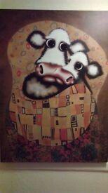 Caroline Shotten 'The Smooch' boxed canvas