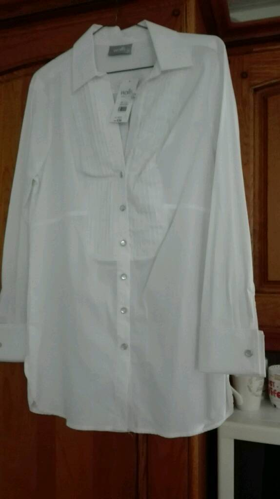 WALLIS WHITE SHIRT SIZE 14 BNWT