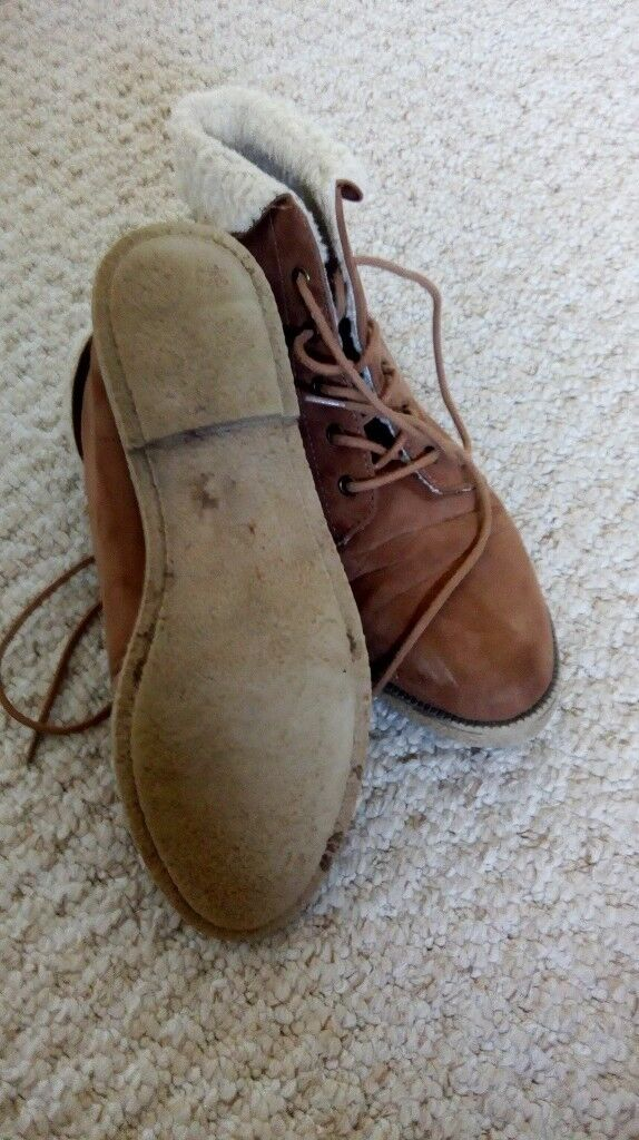 Brown suede ankle boots, size 5