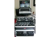 Complete Denon Based DJ System Controller/Mixer/CD MP3 Player Flightcased (Pre-Owned)