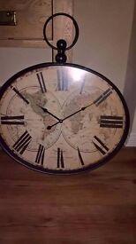 Large Pocket Watch Wall Clock (Oak Furniture Land)
