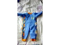 0-3 month fleece lined splash about wetsuit for swimming