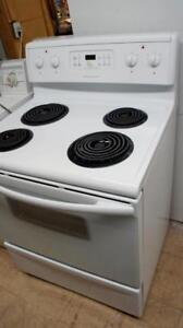 WORKING FRIGIDAIRE SELF CLEANING COIL TOP STOVE -CLEAN IN + OUT