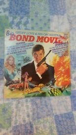 James Bond movie themes vinyl LP