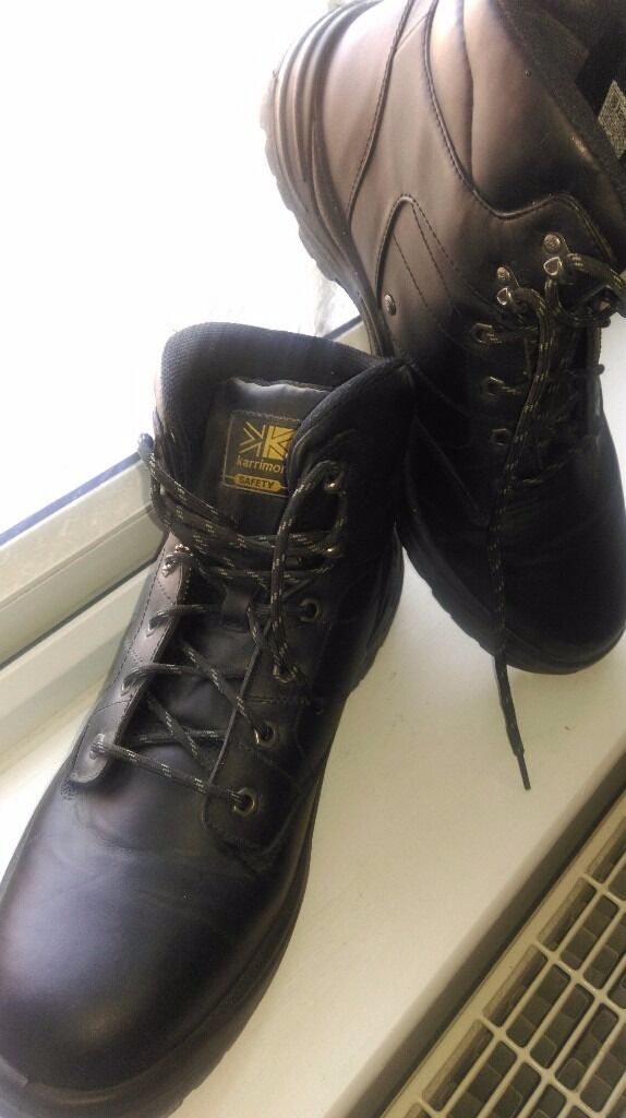 Size 14 Mens black safety boots | in South East London, London ...