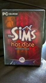 SIMS Hot Date Expansion Pack PC CD-Rom BRAND NEW NEVER USED