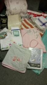 Assorted Textiles! Curtains, table clothes, bedding and bed spreads