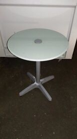 Round Frosted Glass Table