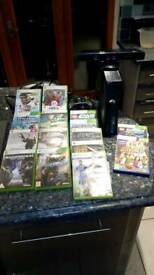 Xbox 360, kinect, 2 wireless controllers and 15 games
