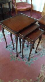 Nest of antique tables a bargain in stirling area
