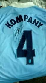 2 x man city signed shirts