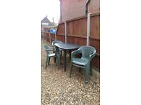 Garden furniture set - table and 4 chairs