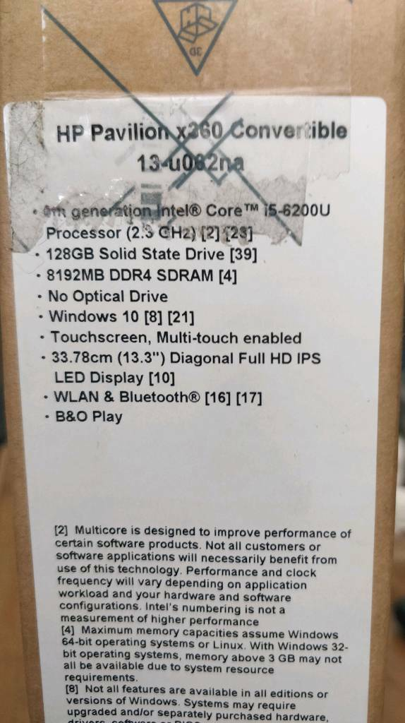 Hp pavilion x360 convertible laptop tablet 13-u062na | in Dennistoun,  Glasgow | Gumtree