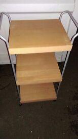 Wooden Roller Shelves / Storage: 3 Shelf