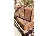 Vintage luggage suitcases