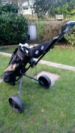 Golf set with trolley