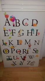 Alphabet Wall Canvas