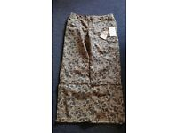 Camouflage Canvass Trousers Size 12 Brand New with Tags