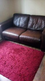 Quality Italian leather sofa. £325