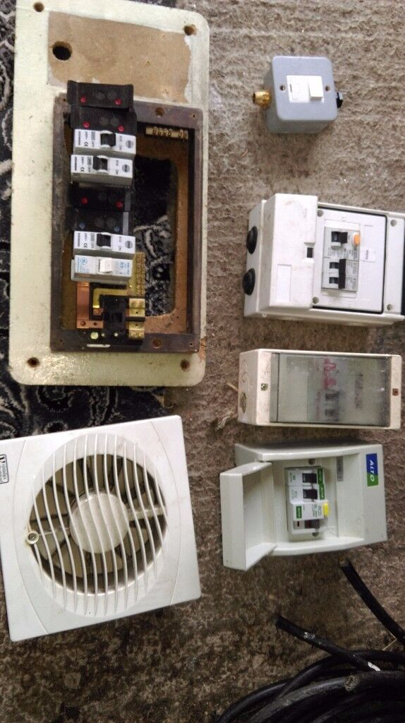 electric mains fuse board trip RCD building electrician garage extension