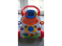 Chicco baby steps activity walker with shape sorter