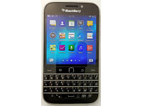 Blackberry Classic Mobile Phone & Genuine Leather Cover Pouch
