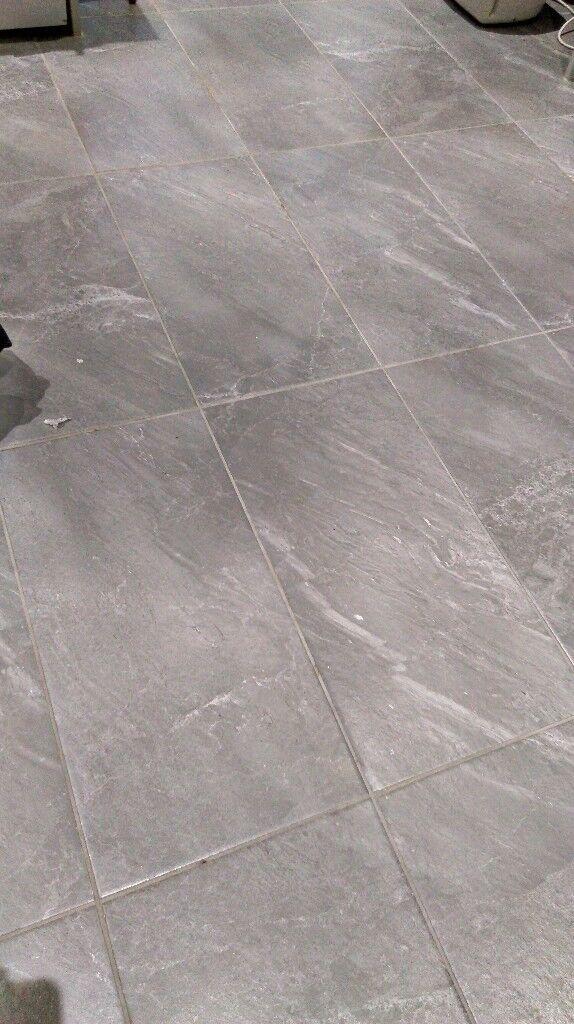 Grey Porcelain Wallfloor Tiles Stoneslate Effect 66cm X 33cm X9