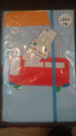 Mothercare Cot bed duvet cover and pillowcase set.