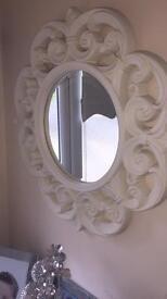 Beautiful next cream mirror