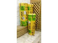 3 rolls loft insulation, unopened. 4.50m sq and 200mm thick each roll