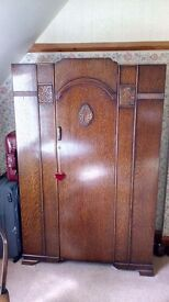 Two matching wardrobes and dressing table