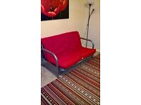 double futon sofabed with mattress RED