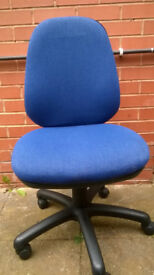 3 Blue Adjustable Office Chairs (Excellent Condition)