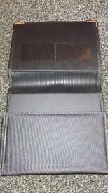 seat Leather black wallet to store manual