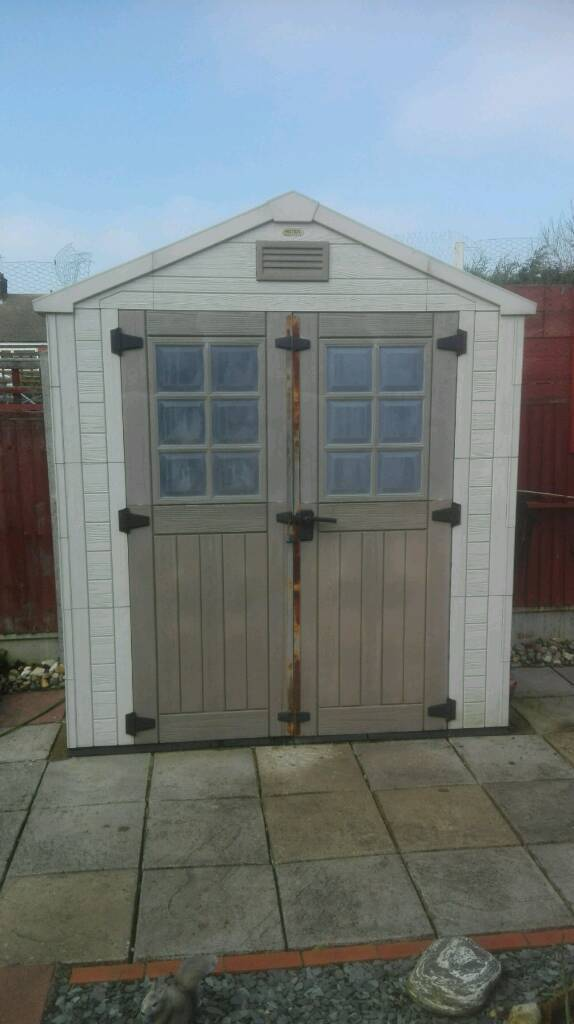 keter 7 x 3 resin outdoor garden storage shed - Garden Sheds 7 X 3