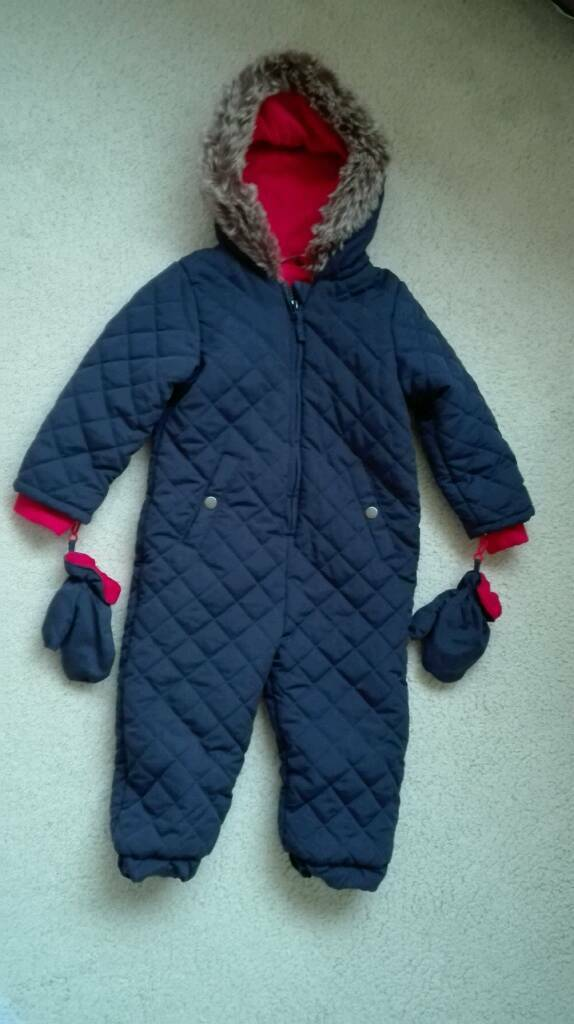 George Baby Boy Pram Outdoor Suit Dark Blue And Red In