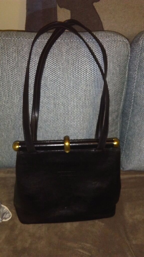 Texier Handbag Black Leather Immaculate Condition