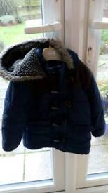 Winter coat 18-23 months. navy