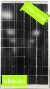 100W MONO-CRYSTAL SOLAR PANEL $109