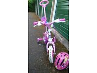 Girl's Unicorn Bike with Stabilizers 10inch Wheels