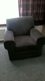 3 piece dark grey settee