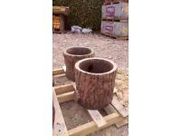 Concrete garden tubs