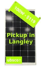 100W Solar Panel - $119 - Pickup in Langley