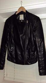 Esprit Leather Women Jacket UK12, EU 38